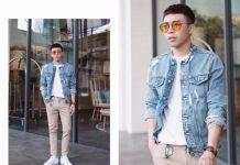 áo khoác jeans thời trang nam
