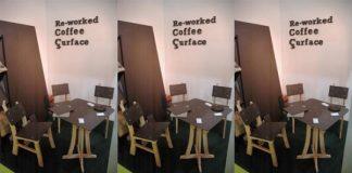 Chiếc ghế làm từ nhựa và bã cafe bạn có tin không