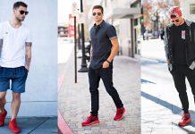 Phối đồ với giày thể thao nam màu đỏ